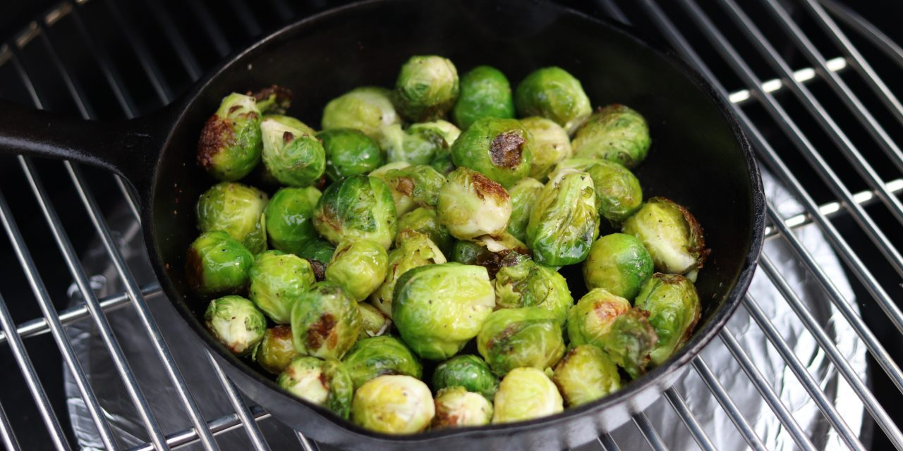 Brussels Sprouts on the Big Green Egg