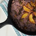 Smoked Poblano Peach Blue Cornbread Recipe