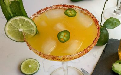 Smoked Jalapeño Simple Syrup and the Perfect Smoked Margarita