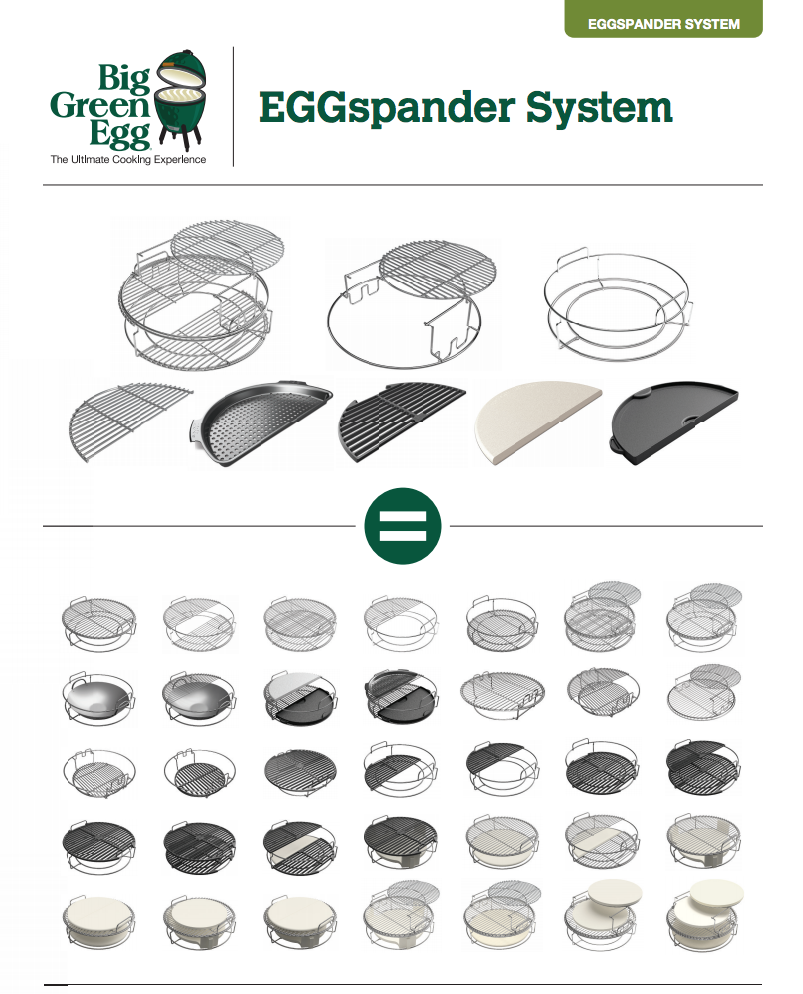 grill girl, big green egg, eggspander system options