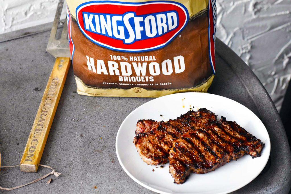 sous vide steaks kingsford hardwood briquets