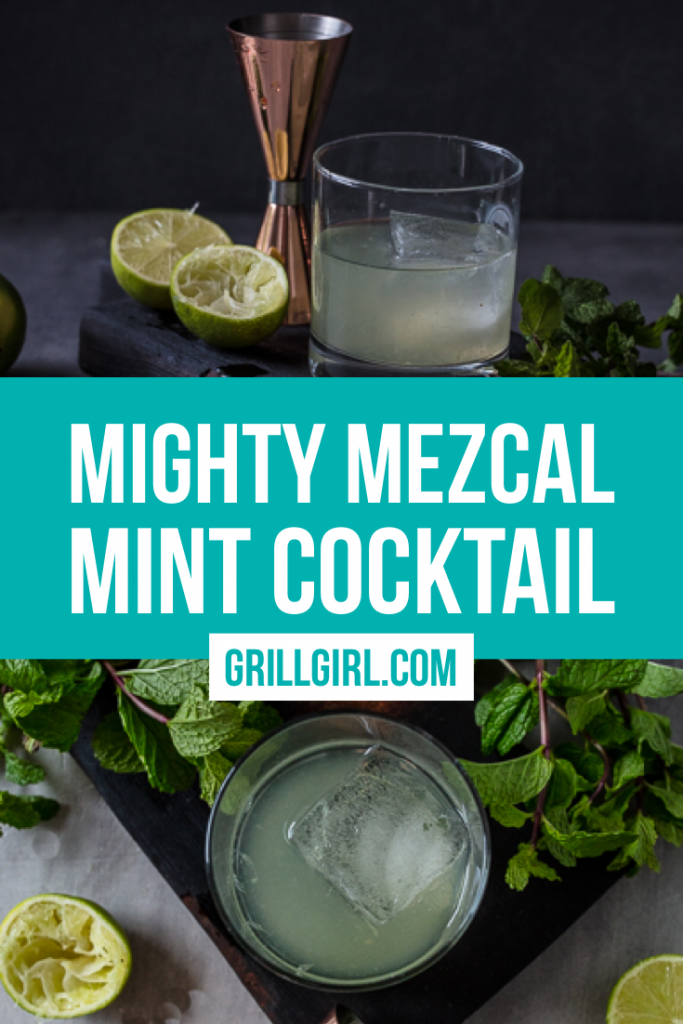 Mint Julep Cocktail made with Mezcal liquor