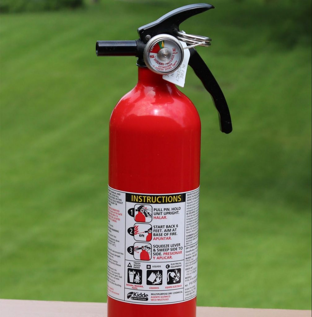 Fire extinguisher for your BBQ grill.