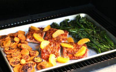 Sheet Pan Dinner: Harissa Orange Salmon and Broccolini