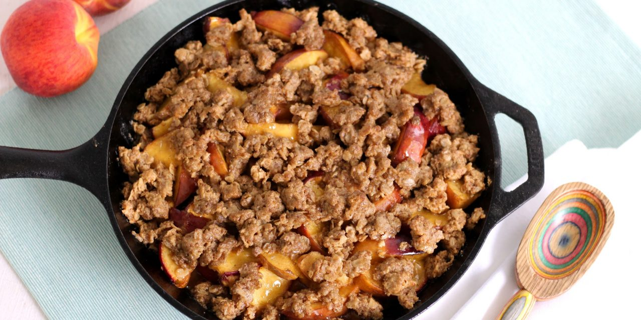 Cast Iron Bourbon Peach Crisp