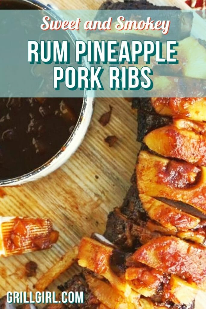 Pork ribs with pineapple rum sauce, how to make pork grilled pork ribs