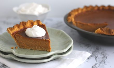 Smoked Chai Tea Pumpkin Pie