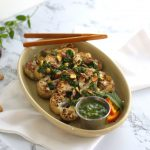 Grilled Cauliflower Steak with Orange Mint Chimichurri