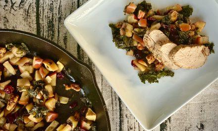 Cast Iron Pork Tenderloin with Apple Kale Chutney