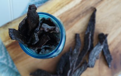 Chipotle Cherry Beef Jerky (Paleo and Whole30 approved)