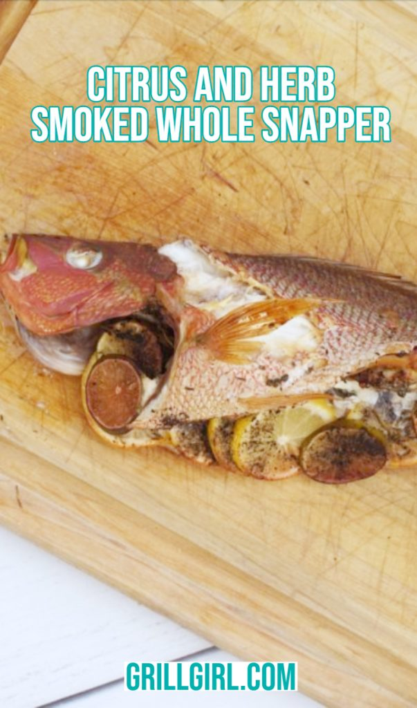 citrus and herb smoked snapper