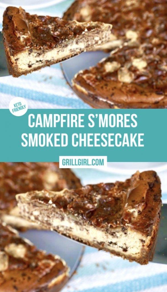 Campfire Smores Smoked Cheesecake