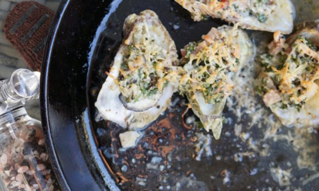 Smoked Garlic Bacon Kale Oysters