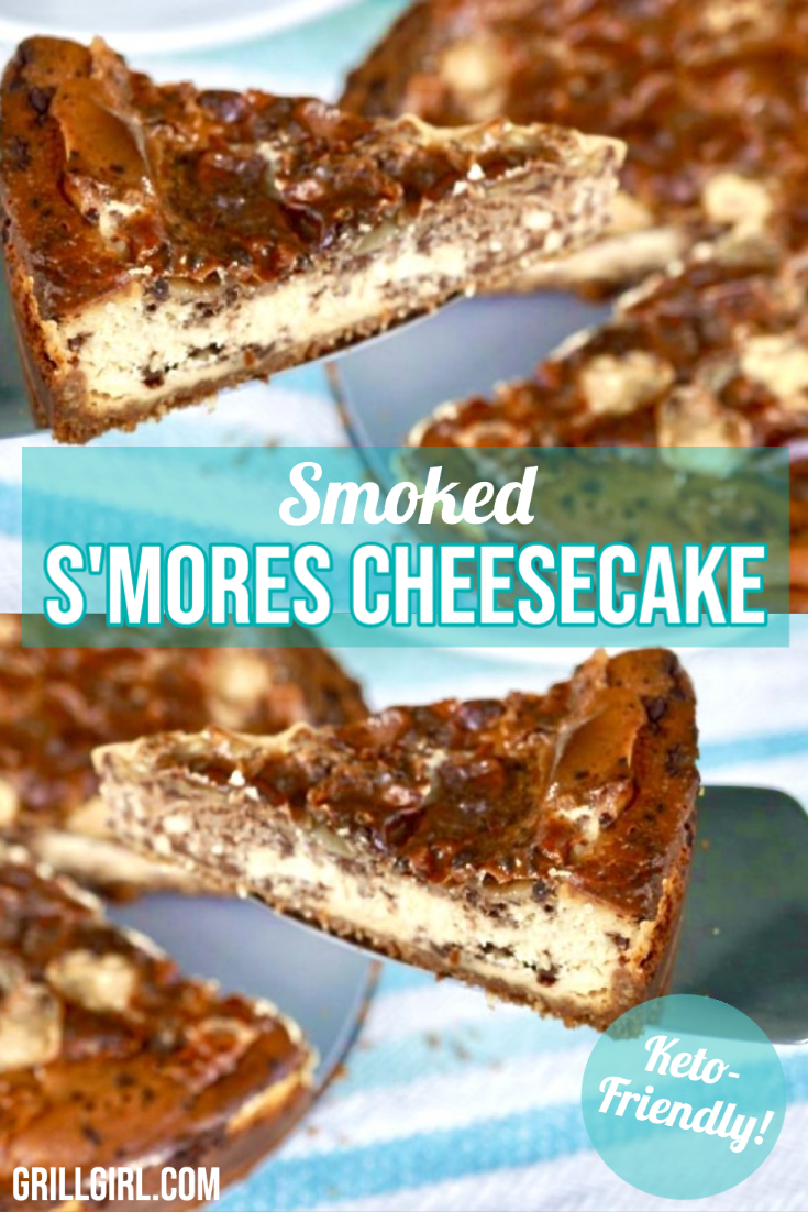 Smoked Smores Cheesecake