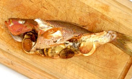 Citrus and Herb Smoked Whole Snapper