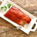 Maple Bourbon Smoked Salmon