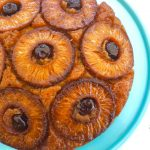 grill girl, smoked pineapple upside down cake, cast iron skillet
