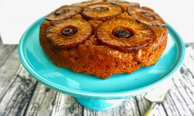 Smoked Pineapple Upside Down Cake