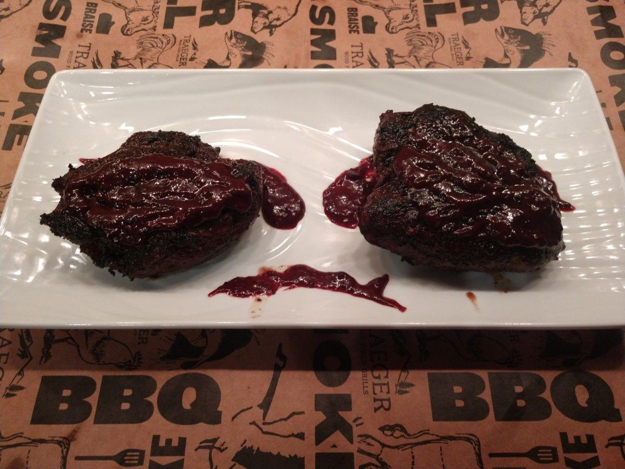 Wild Game Blueberry BBQ Sauce on Elk