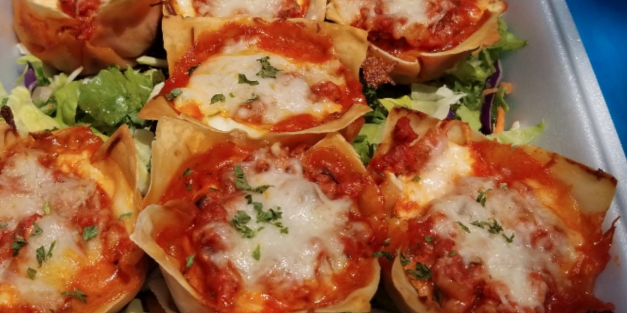 Kathy Pullin's Turkey Lasagna Wonton Cups