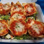 Kathy Pullin competition winning Turkey Lasagna Wonton Cups