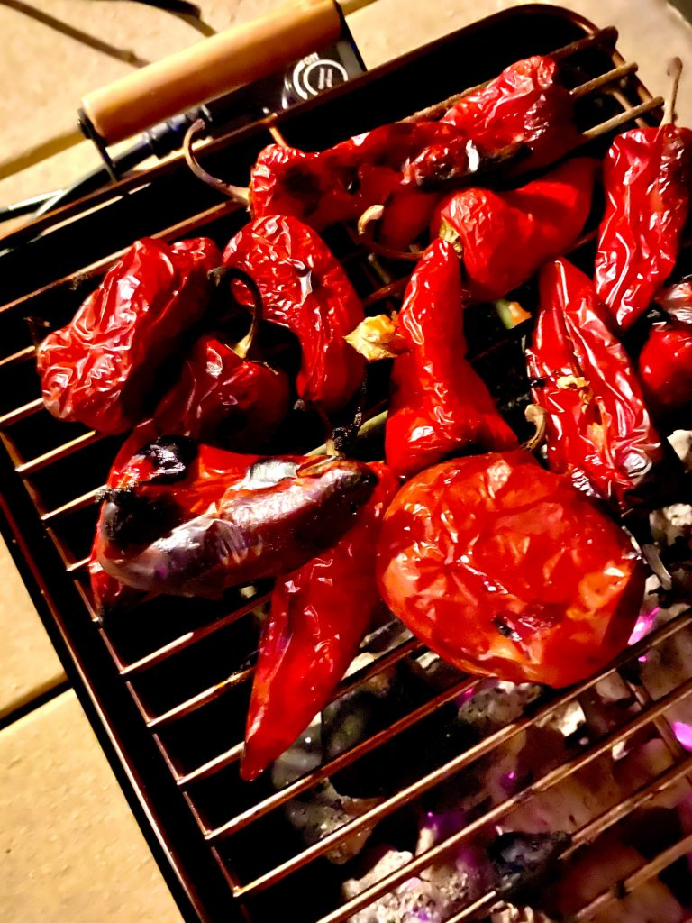 smoked peppers for hot sauce