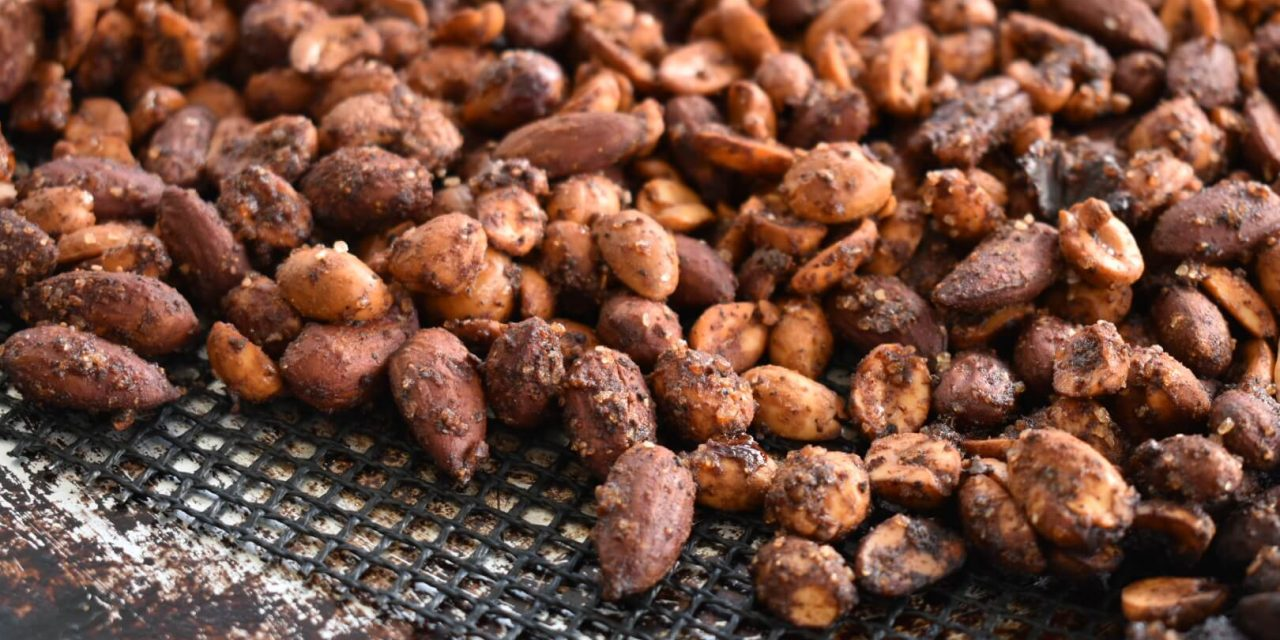 Sweet and Spicy BBQ Smoked Nuts