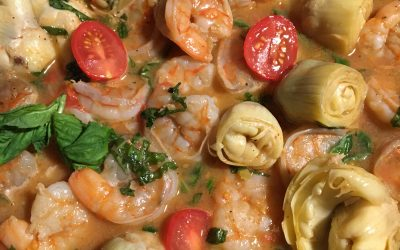 Nicole Stover's Grilled Shrimp With White Wine Sauce