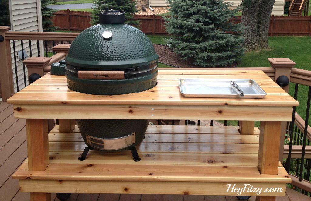 big green egg table plan