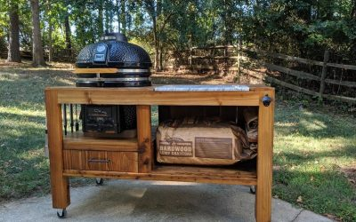 5 DIY Big Green Egg Table Plans To Transform Your Grilling Space