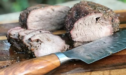 """How to Smoke a Tri-Tip Steak """"Trisket"""" on the Big Green Egg"""