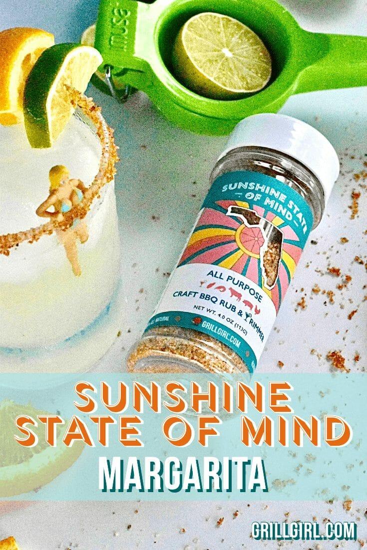 sunshine state of mind margarita, best cocktail rimmer